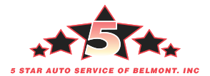 5 Star Auto Service Inc. - header logo | Belmont Auto Repair